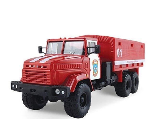 Масштабная модель грузовика KRAZ-6322 Пожарная охрана 1:43 65086 Autotime