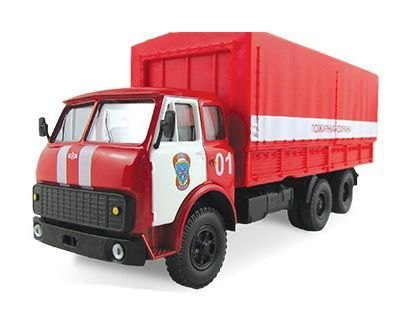 Масштабная модель грузовика MAZ-516 Пожарная охрана 1:43 65093 Autotime