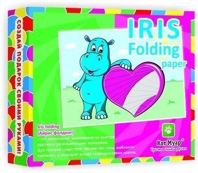 Подарок своими руками IRIS FOLDING Paper Влюбленный бегемотик АФ5214 Кот Муар