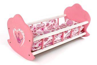 Кроватка-люлька для кукол деревянная Корона 67115/48376 Mary Poppins