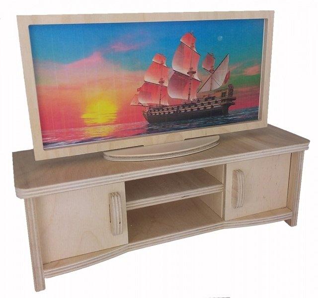 Кукольная мебель Тумба с телевизоромбольшая МК-014 Альтаир