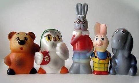 Набор фигурок Винни и его друзья пластизоль ПКФ Игрушки