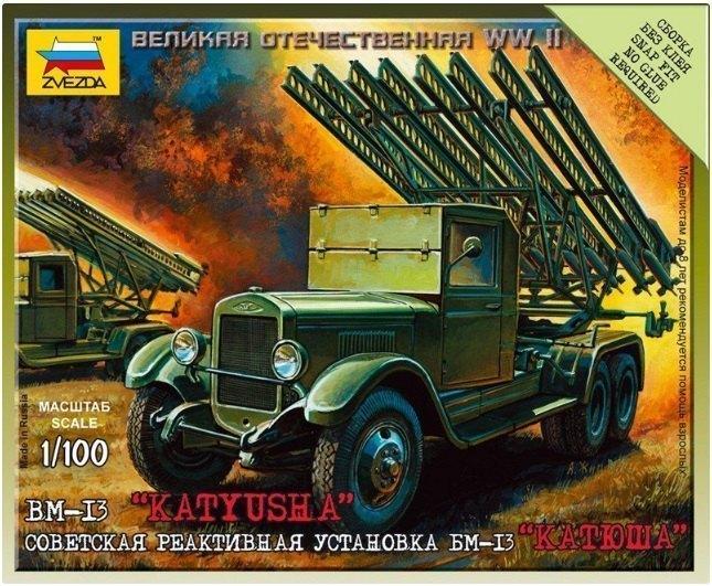 Сборная модель Советская реактивная установка БМ-13 Катюша 6128 Звезда