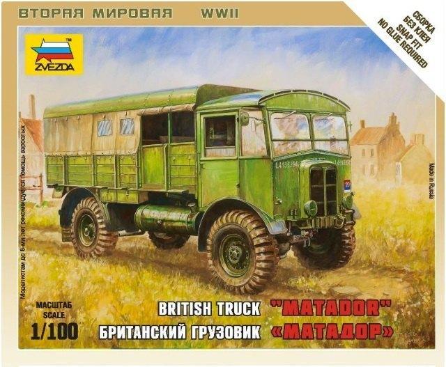 Сборная модель Британский грузовик Матадор 6175 Звезда
