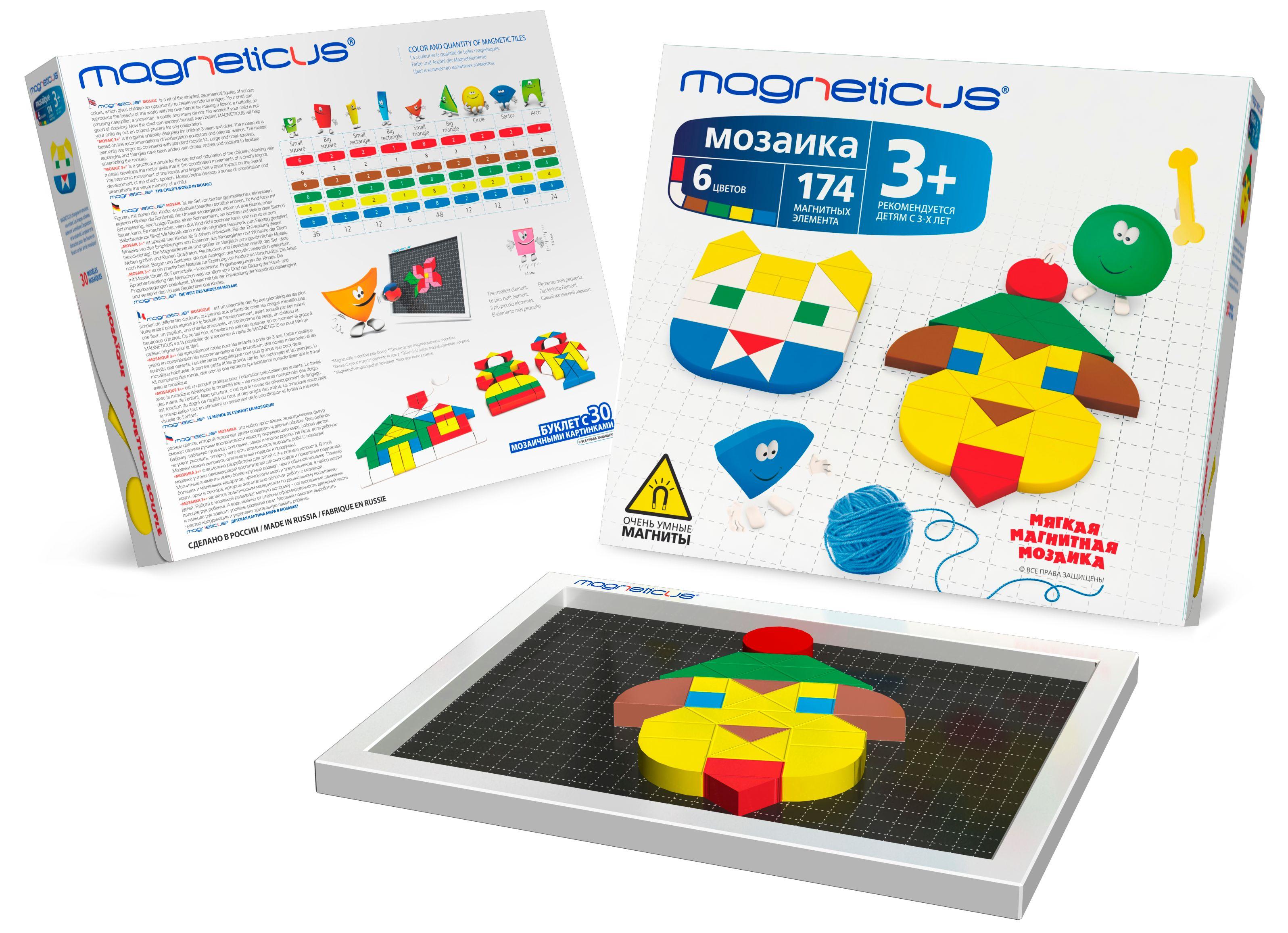 Мозаика магнитная для малышей Magneticus 174 эл. ИГРуС Magneticus, Магнетикус