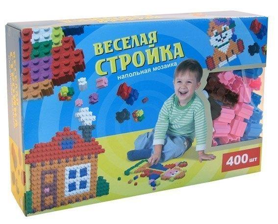 Мозаика напольная Веселая стройка в коробке, 400 шт Эра
