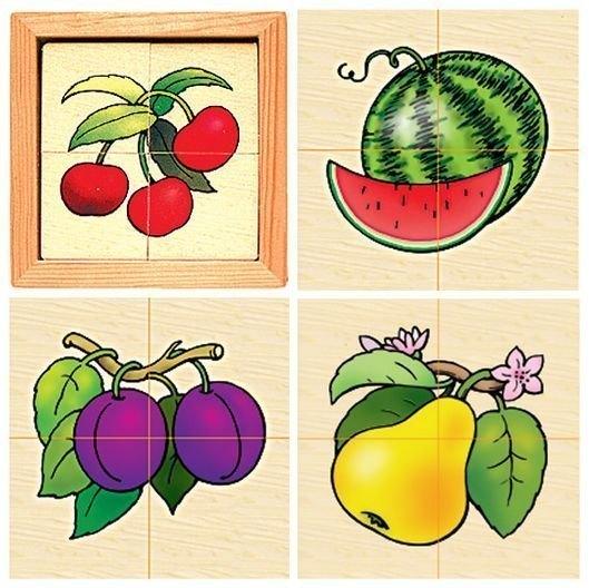 Развивающая игра Картинки разрезные деревянные Ягода Д-008 RNToys
