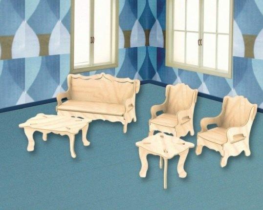 Сборная деревянная модель Мебель П008 Мир деревянных игрушек МДИ