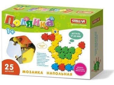 Детская Мозаика напольная Полянка Утка 25 дет., 60 мм. 01048 Стеллар
