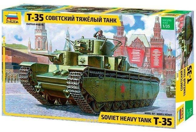 Сборная модель Советский тяжелый танк Т-35 3667 Звезда