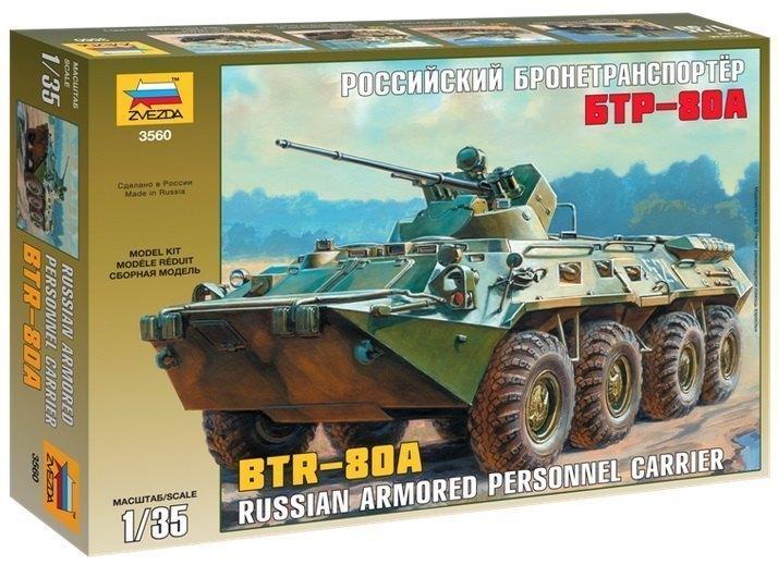 Сборная модель Российский бронетранспортер БТР-80А 3560 Звезда