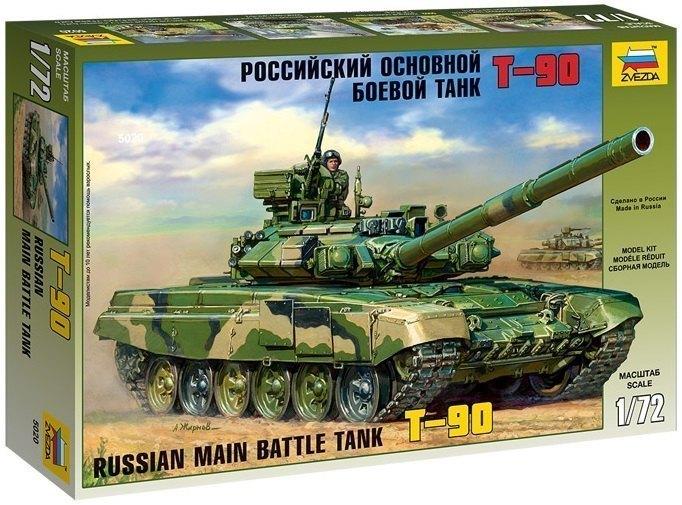 Сборная модель Российский основной боевой танк Т-90 5020 Звезда
