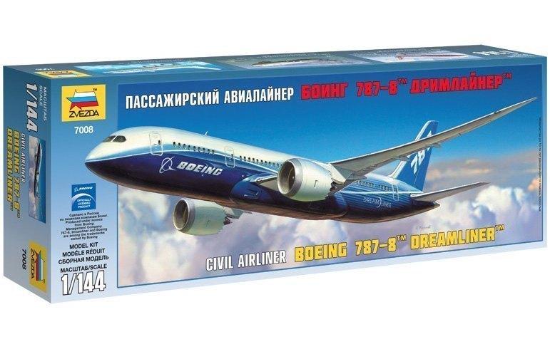 Сборная модель Пассажирский авиалайнер Боинг 787-8 Дримлайнер 7008 Звезда