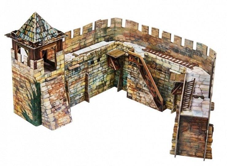 Сборная модель из картона Крепостная стена 286 Умная бумага