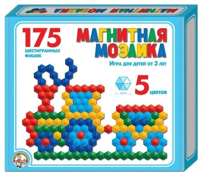 Мозаика магнитная шестигранная без поля 175 шт, 20 мм 00959 Десятое королевство
