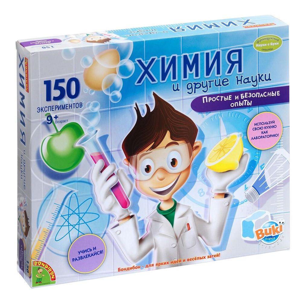 Набор для экспериментов Химия и другие науки 150 экспериментов Французские опыты Науки с Буки ВВ47457 Bondibon Бондибон
