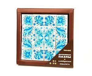 Пазлы деревянные калейдоскоп Зима/Лето 16 дет 124 Томь-Сервис