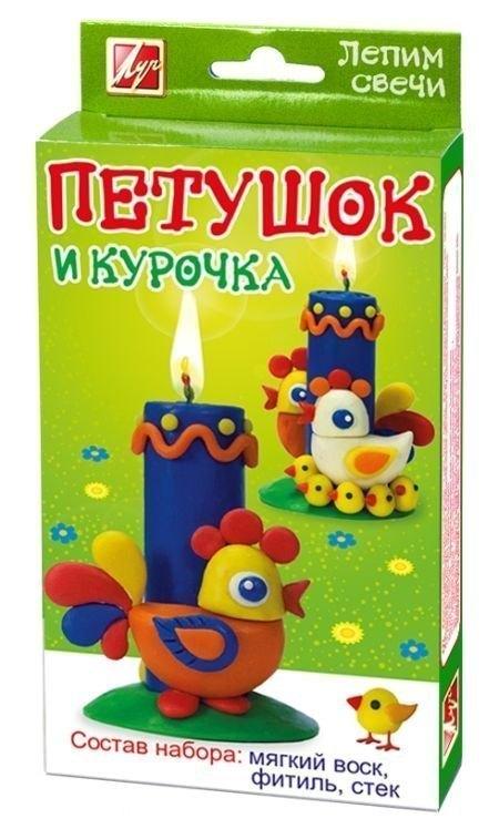 Набор для создания свечей Лепим свечи Петушок и курочка 25С 1573-08 Луч