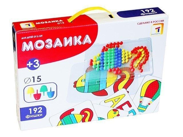 Детская мозаика с прозрачным полем 128 фишек диаметр 15 мм 15005 Плейдорадо