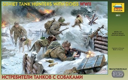 Сборная модель Истребители танков с собаками 3611 Звезда
