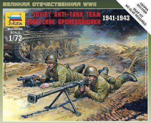 Сборная модель Советские бронебойщики 6135 Звезда