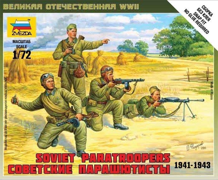 Сборная модель Советские парашютисты 6138 Звезда