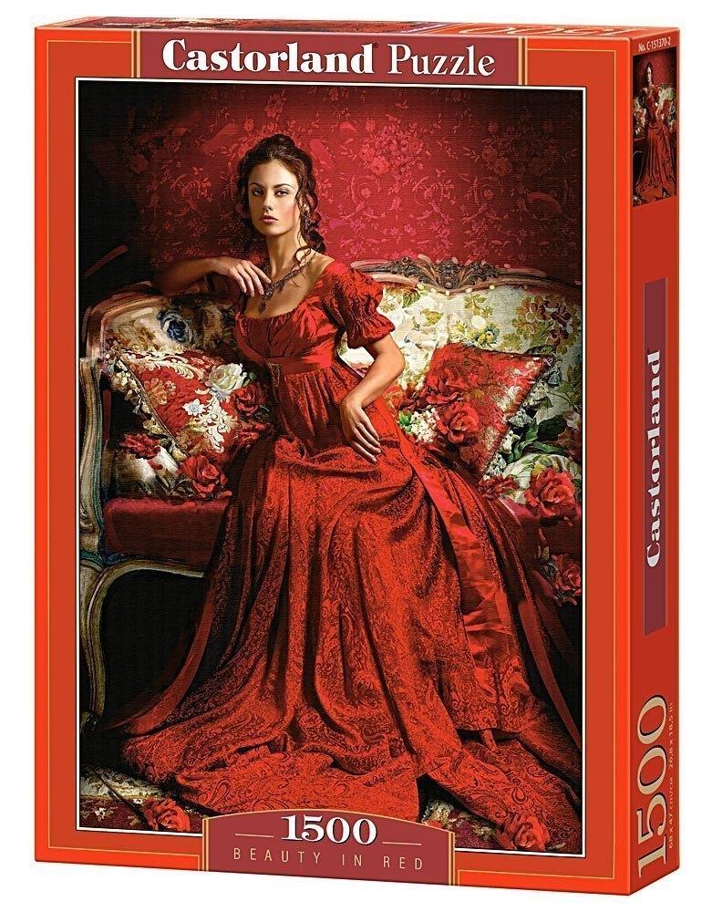 Пазл Девушка в красном, 1500 элементов C-151370 Castorland Касторленд