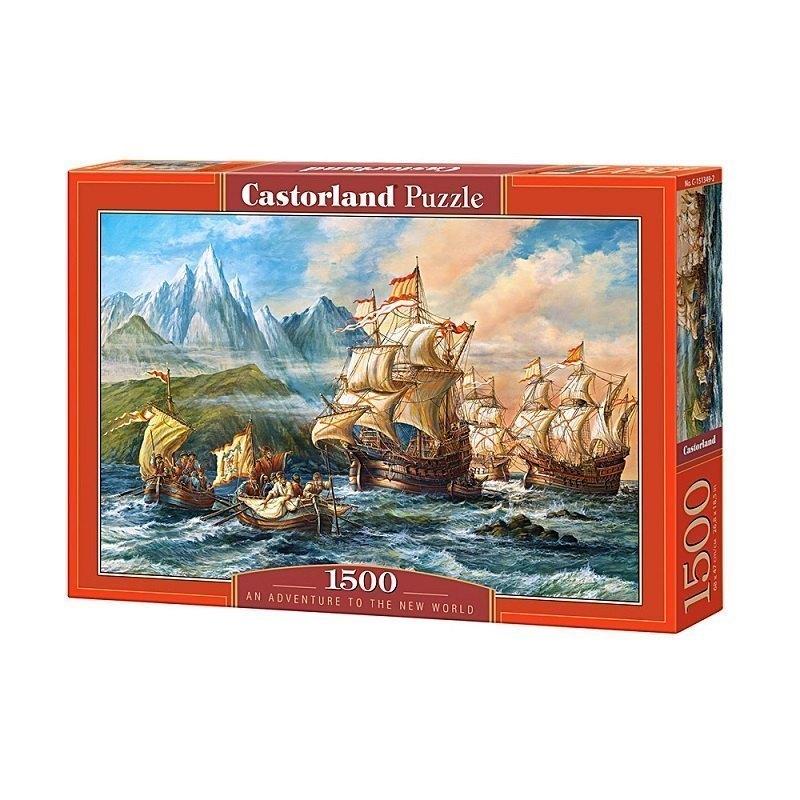 Пазл Приключения в Новом Свете, 1500 элементов С-151349 Castorland Касторленд