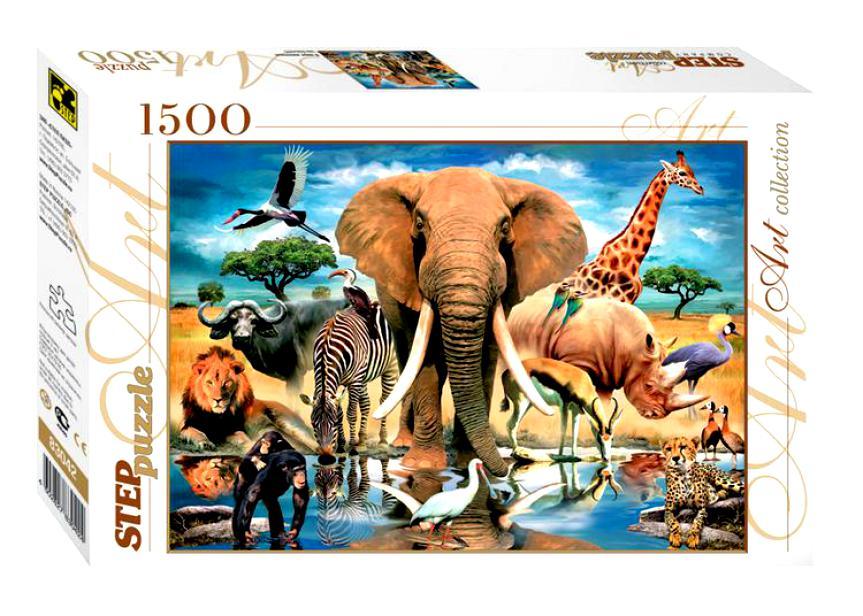Пазл В мире животных, 1500 элементов 83042 Степ пазл Step puzzle