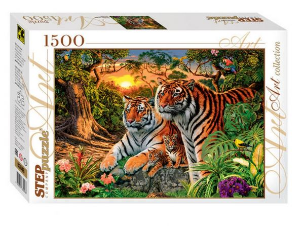Пазл Сколько тигров?, 1500 элементов 83048 Степ пазл Step puzzle