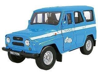 Масштабная модель УАЗ-31514 Почта России с капотом 1:36 11448 Autotime