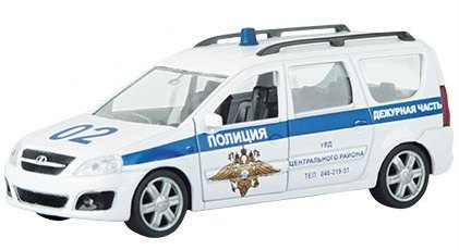 Масштабная модель Лада LARGUS Полиция 1:38 49481 Autotime