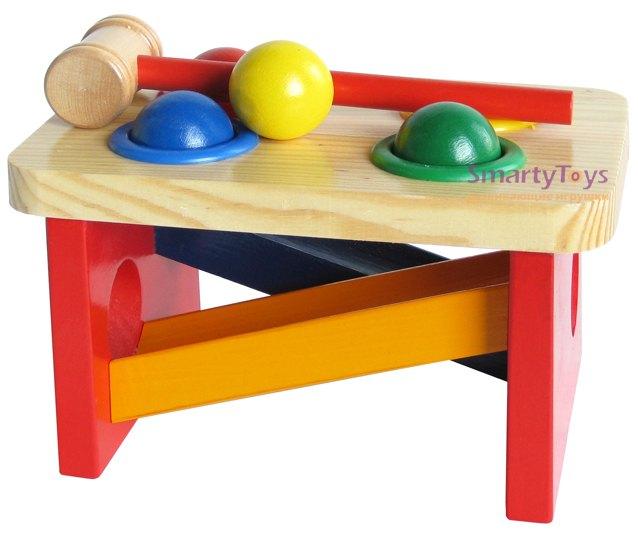 Стучалка-горка-Шарики Д142 Мир деревянных игрушек МДИ