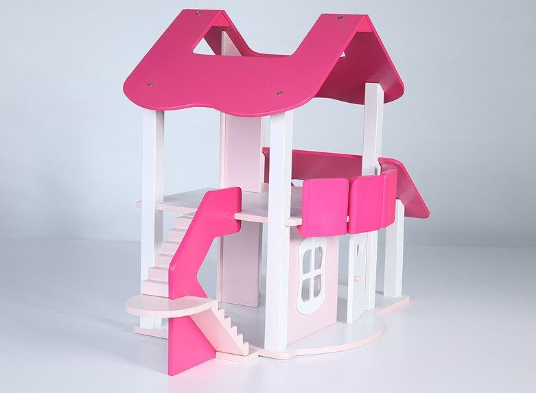 Как сделать двухэтажный домик для кукол своими руками