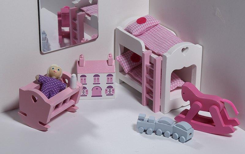 """Набор мебели для кукольного домика """"детская спальня"""" - woodl."""