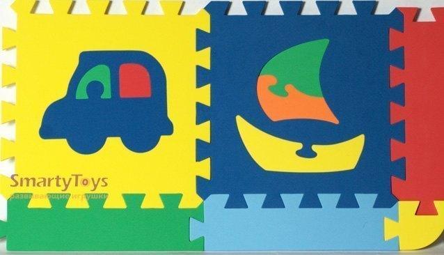 "Коврик с силуэтами ""Транспорт "" (12 дет. 28х28 см) - Бомик ...: http://www.smartytoys.ru/igrushka_2729"
