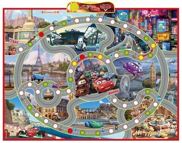 Настольная игра Правила дорожного движения. Интерактивный плакат-игра Тачки